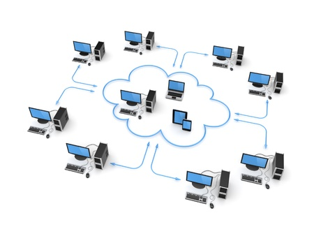 Cloud computing concept Stock Photo - 19539221