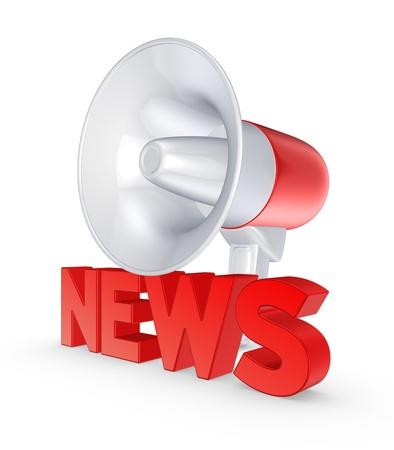 speaking trumpet: News concept