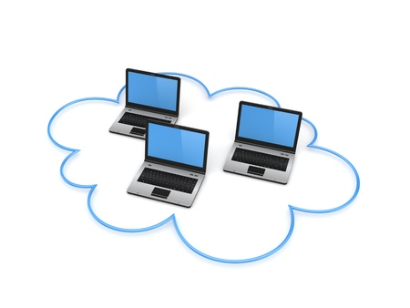 Cloud computing concept Stock Photo - 19539166