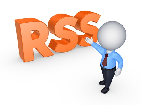 small articles: RSS concept  Stock Photo