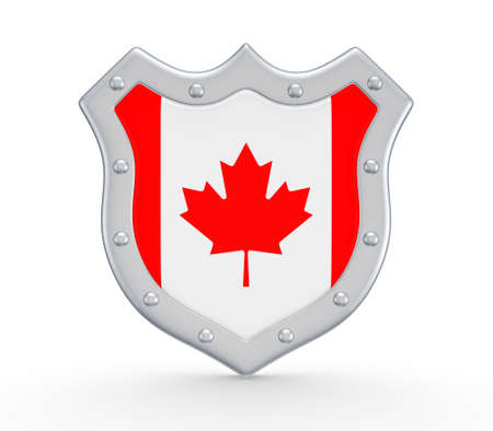 Coat of Arms with flag of Canada  photo