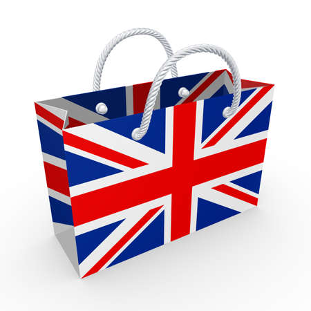 Packet with flag of UK  photo