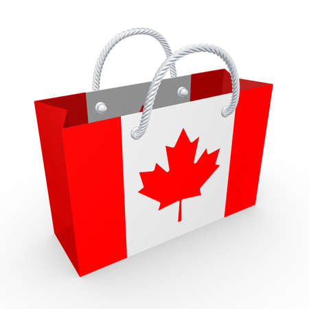 Packet with flag of Canada  photo