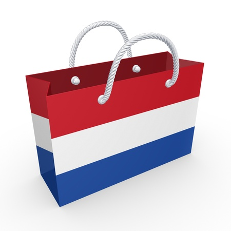 Packet with flag of Netherlands  photo