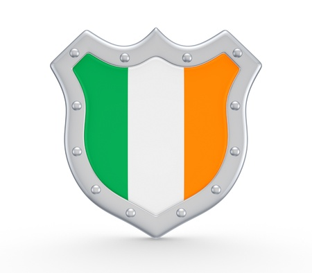 irish pride: Coat of Arms with flag of Ireland