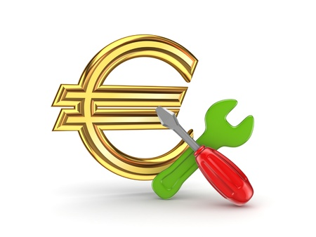 euro screw: Financial support concept