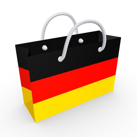 Packet with flag of Germany  photo
