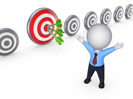 focus on the goal: Success concept