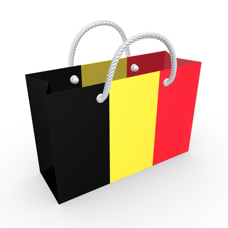 Packet with flag of Belgium  photo