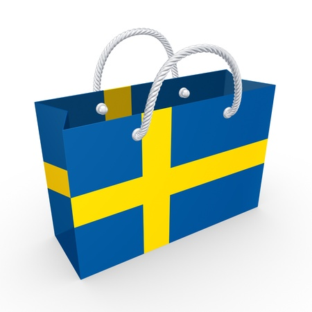Packet with flag of Sweden  photo