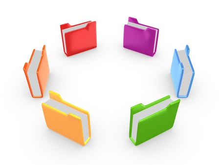 Colorful folders  photo