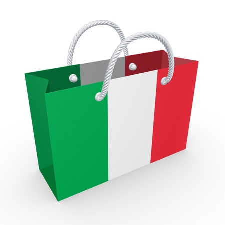 Packet with flag of Italy  photo