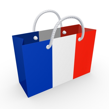 Packet with flag of France  photo