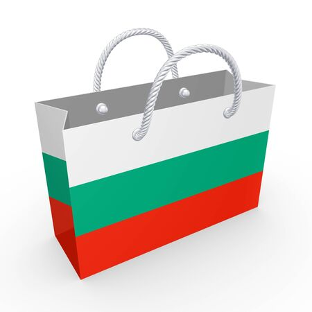 Packet with flag of Bulgaria  photo