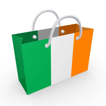 Packet with flag of Ireland  photo