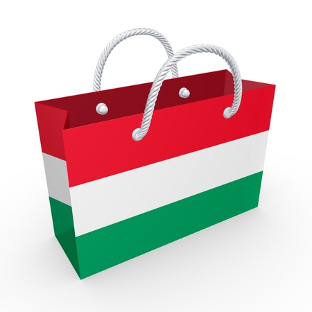Packet with flag of Hungary  photo