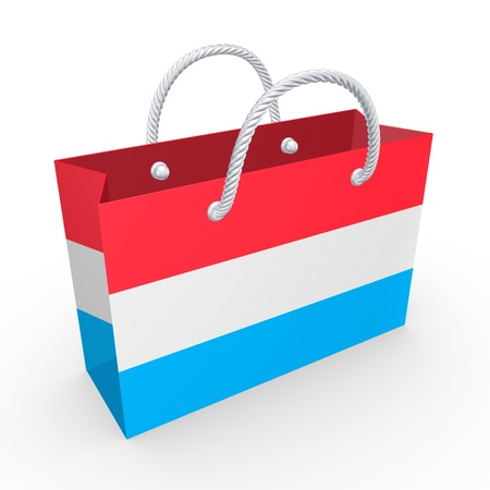 Packet with flag of Luxembourg  photo