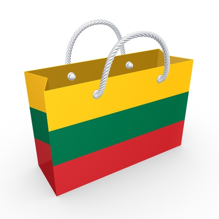 Packet with flag of Lithuania  photo