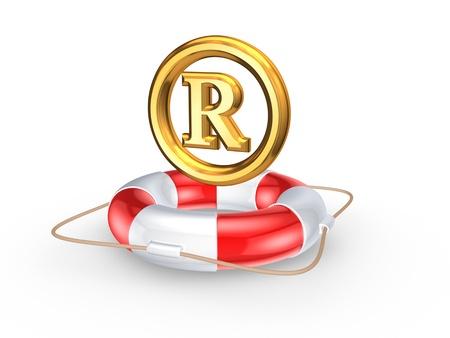 warrant: Lifebuoy and R symbol