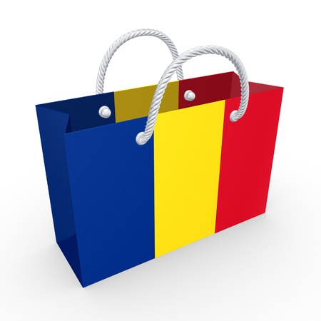 Packet with flag of Romania  photo