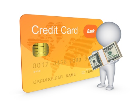 Credit card concept.Isolated on white.3d rendered. Stock Photo - 20309272