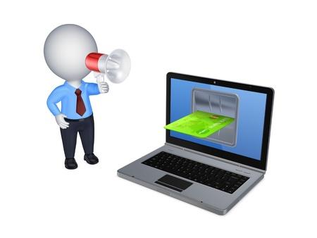 speaking trumpet: Online payments concept
