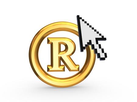 authorship: Cursor and copyright symbol