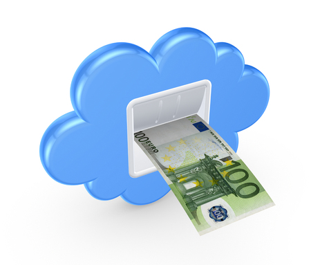Cloud computing concept.Isolated on white.3d rendered. Stock Photo - 22472495