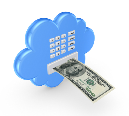 Cloud computing concept.Isolated on white.3d rendered. Stock Photo - 22472545