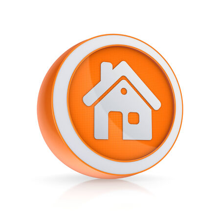 House icon, isolated on white, 3d rendered. photo