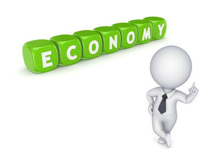 Economy concept.Isolated on white.3d rendered. Stock Photo