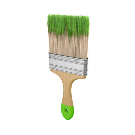 repaint: Paint brush.Isolated on white background.3d rendered illustration. Stock Photo