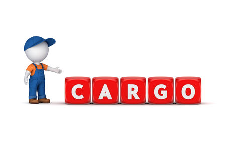 Word CARGO.Isolated on white background.3d rendered illustration. illustration