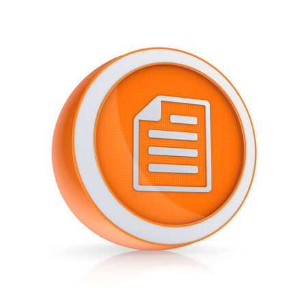 Notepad icon.Isolated on white.3d rendered. photo