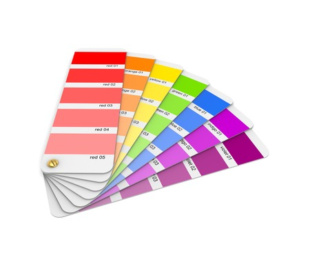sampler: Colour sampler.Isolated on white background.3d rendered illustration.
