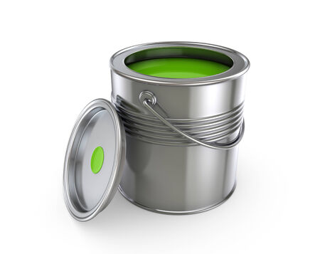 reconditioning: Paint can.Isolated on white background.3d rendered illustration.