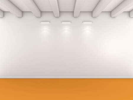 interior lighting: 3d rendered interior composition with lighting on wall.
