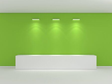 3d rendered interior composition of exhibition space. photo