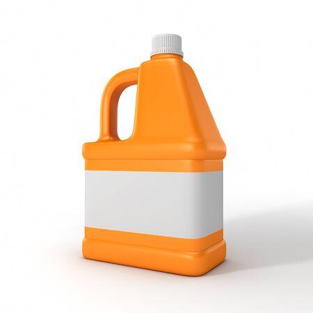 Blank detergent bottle. 3d illustration isolated on white background. Stock Photo