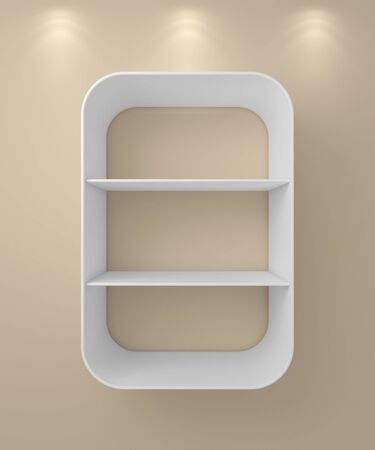furnishings: 3d rendered composition of empty modern shelves.