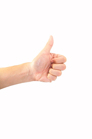 diecut: thumb up Stock Photo