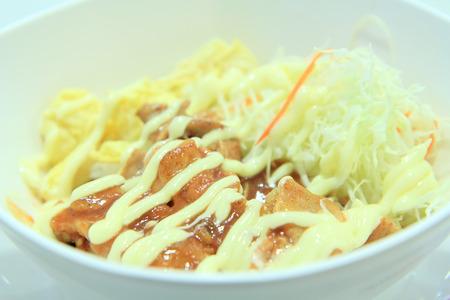 teriyaki: chicken rice with teriyaki sauce