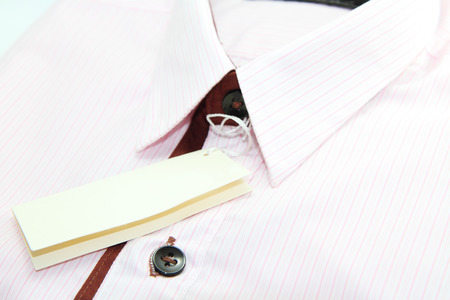 New pink stripes shirt  with label photo