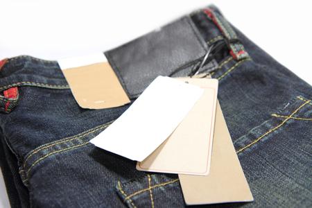 Label price of jeans Archivio Fotografico