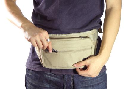 waist belt: waist belt bag Stock Photo