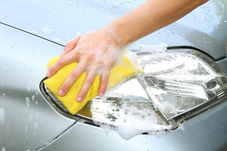 headlight  wash  car wash photo