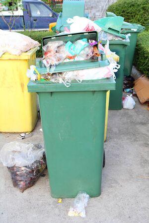 a lot of garbage in bin