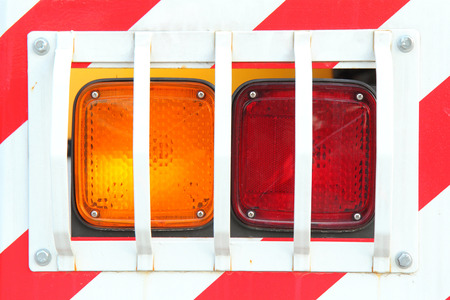 tail light: tail light of the truck Stock Photo
