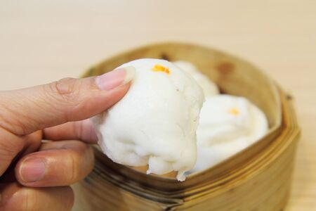 stuff: close-up steamed stuff bun  Salapao