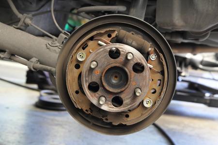 frenos: Los frenos de tambor centro del coche